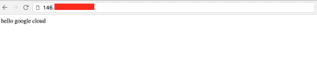 hello google cloud