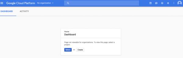 console dashboard