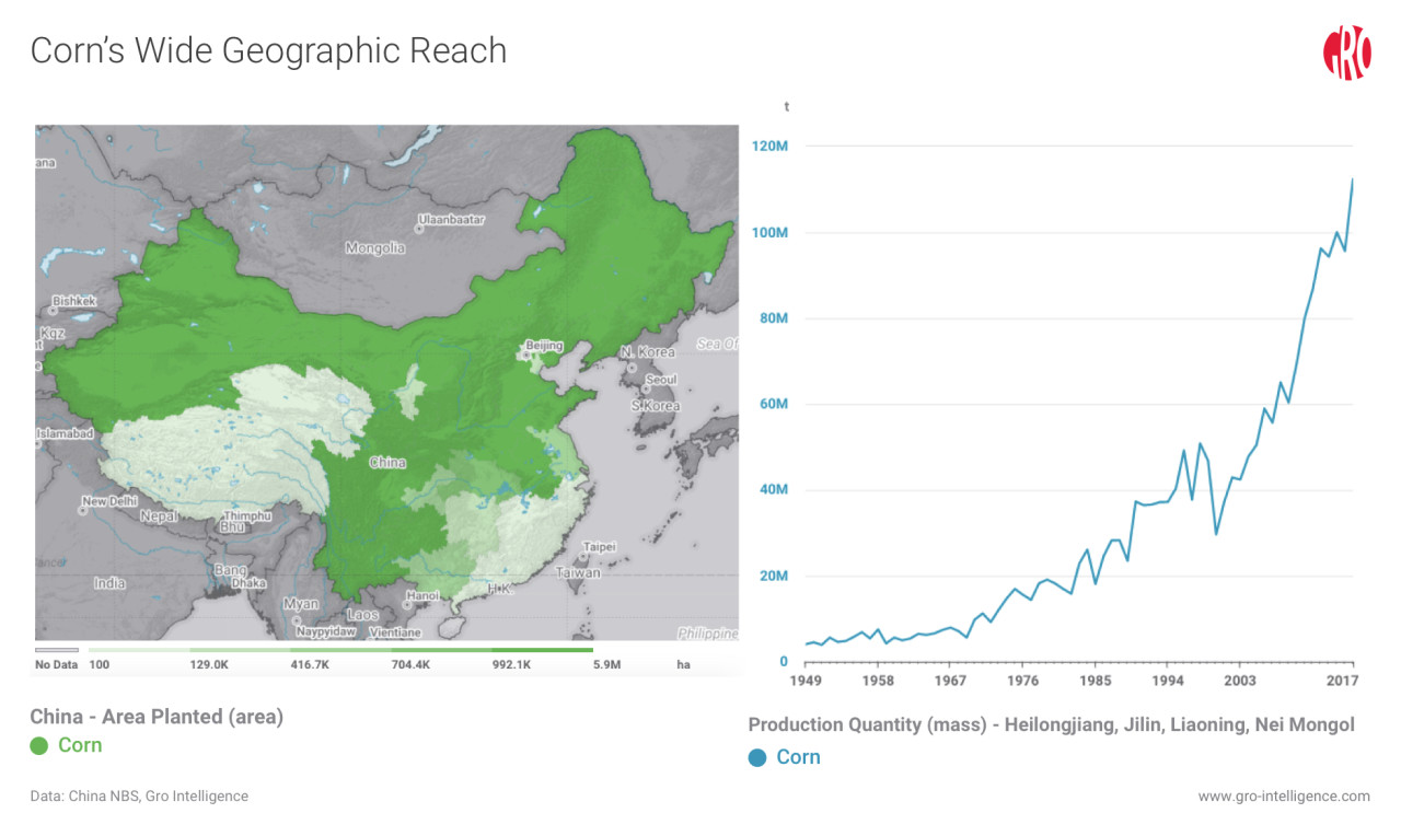 Provincial Data Shows Chinas Shifting Agricultural Trends Gro - Us-corn-belt-map