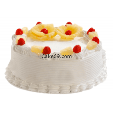 Pineapple Cake With Flower