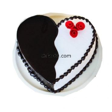 Valentine Spacial Heart Shape Vanilla Cake