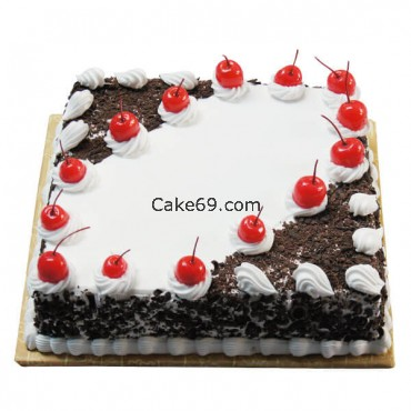 Blackforest Square Shape Cake