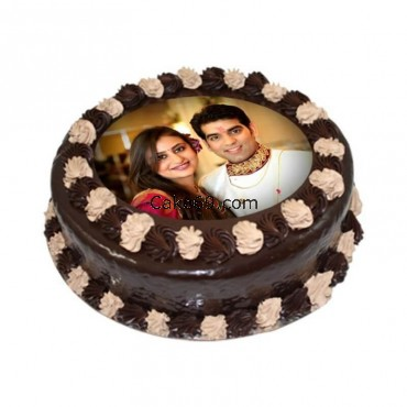 Chocolate Photo Cake Round Shape