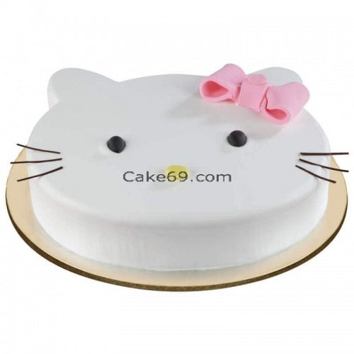 Kitty Face Cake