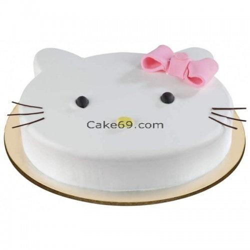 Kitty Face Cake