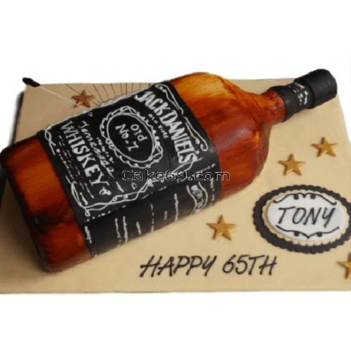 Whisky Fondant Cake