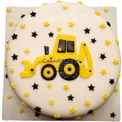 JCB Fondant Cake