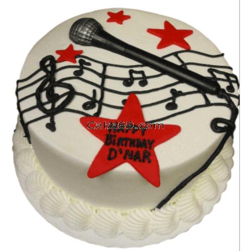 Rock Star Fondant Cake