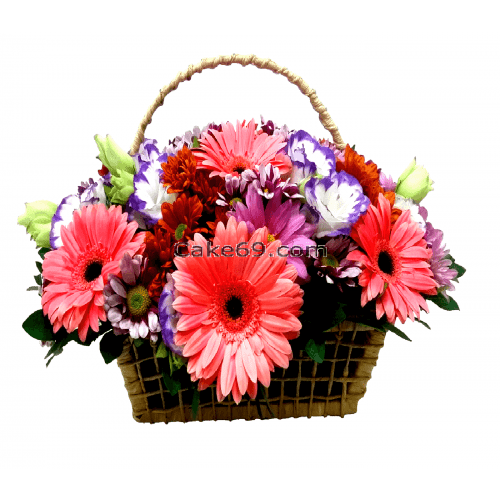 Gerbara Flowers Basket