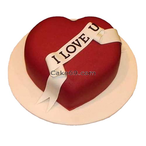 Red velvet Love you cake