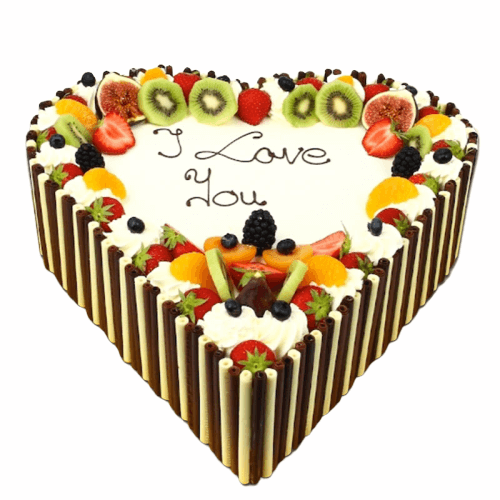 Chocolate Fruit Cake Love