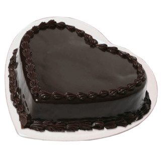 Chocolate Heart Shape Cake
