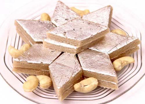 Diwali Kaju Barfi Sweet