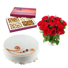 Red Roses and Dry fruits