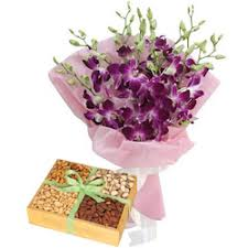 Dryfruits with Orchids
