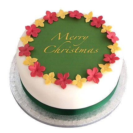 christmas Mixed Flower Cake