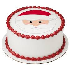 Christmas Santa Photo Cake
