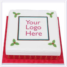 Christmas Cake with your Logo