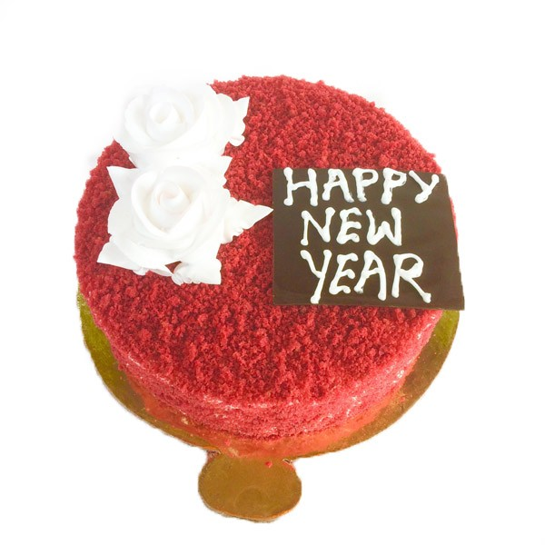 Red velvet New Year Cake