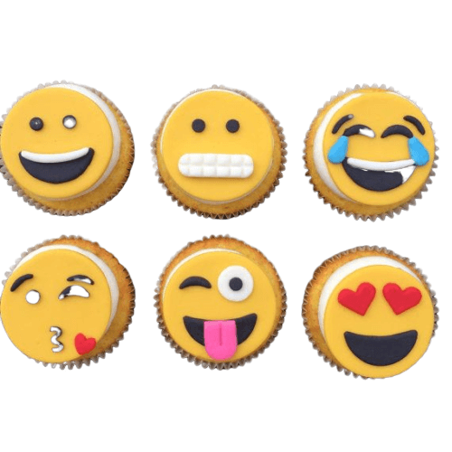 Emoji Fondant Cup Cakes