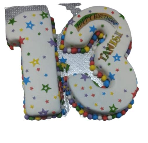 Teens Number Cake