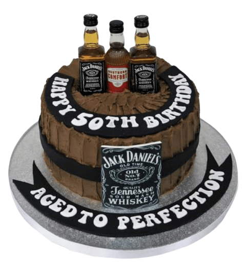 whisky Theme Cake