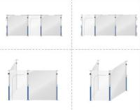 Dustwall Dør Modul 130x310 CM