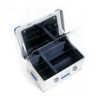 Aluminiumskoffert innredet 60x40x17 cm