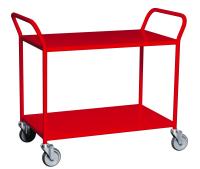 Trillebord 255 Rød m/ 2 Hyller