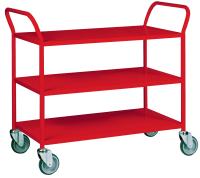 Trillebord 355 Rød m/ 3 Hyller