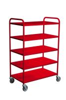Trillebord 355 Rød m/ 5 Hyller