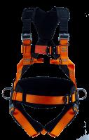 Fallsele med støttebelte