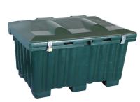 Strøkasse grønn 131x91x79 cm 550 liter