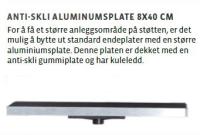 Antiskliplate i Aluminium 8x40 CM