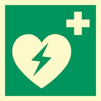 Nødskilt hjertestarter klister