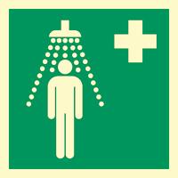 Nødskilt dusj klister
