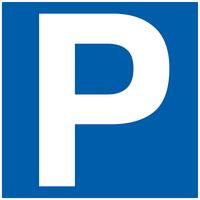 Skilt Parkering 50x50cm