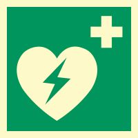 Nødskilt hjertestarter plast