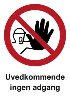 Skilt Uvedkommende ingen adgang m/refleks, A4 Alu