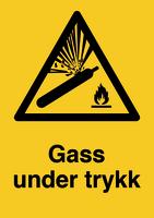 Skilt Gass under trykk u/refleks, A4