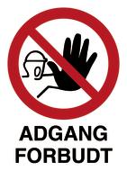 Skilt Adgang forbudt m/refleks, A4