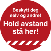 Gulvmerke Hold Avstand Ø33 cm rød