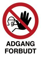 Skilt Adgang forbudt u/refleks, A4 plast