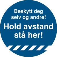 Gulvmerke Hold Avstand Ø33 cm blå