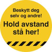 MERKE HOLD AVSTAND Ø33 CM GUL