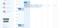 Screenshot of bulk auto-scheduling service
