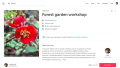 Screenshot of Airbnb forest garden workshop booking page