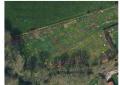 CAD plan of forest garden, overlaying satellite photo