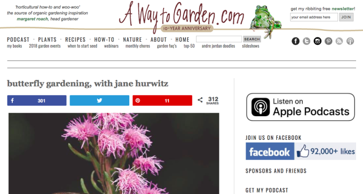 Screenshot of A Way to Garden website