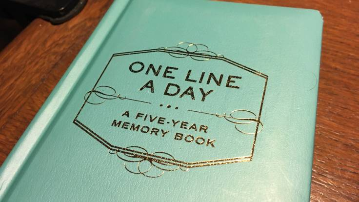 "Journal with the title ""One Line a Day: A Five Year Memory Book"""